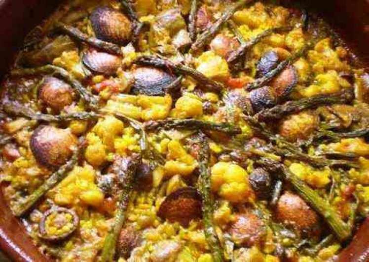 Arroz Al Horno Con Almejas Y Verdura