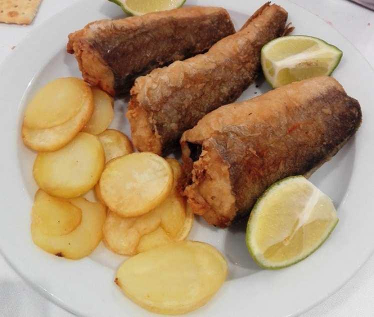 Colitas de Merluza con Patatas Panaderas