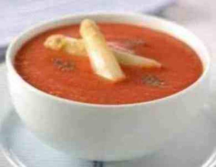 Crema De Tomate Y Espárragos