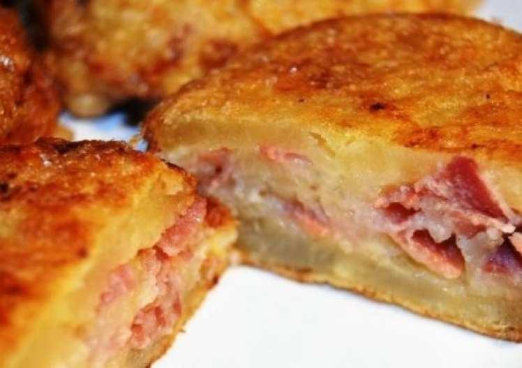 Emparedados de Patata con Jamón