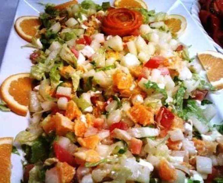 Ensalada De Lechuga Con Naranja