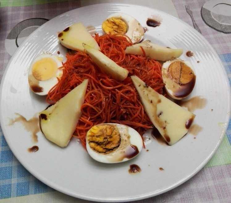 Ensalada de Zanahorias al vinagre de Módena