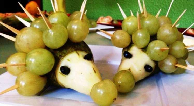 Erizos de Fruta Natural