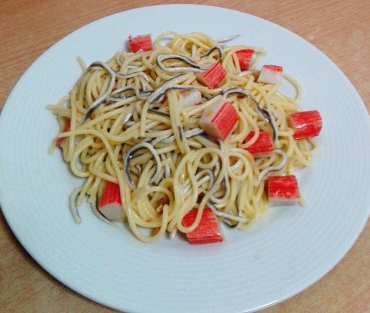 Espaguetis al Ajillo con Frutos de Mar