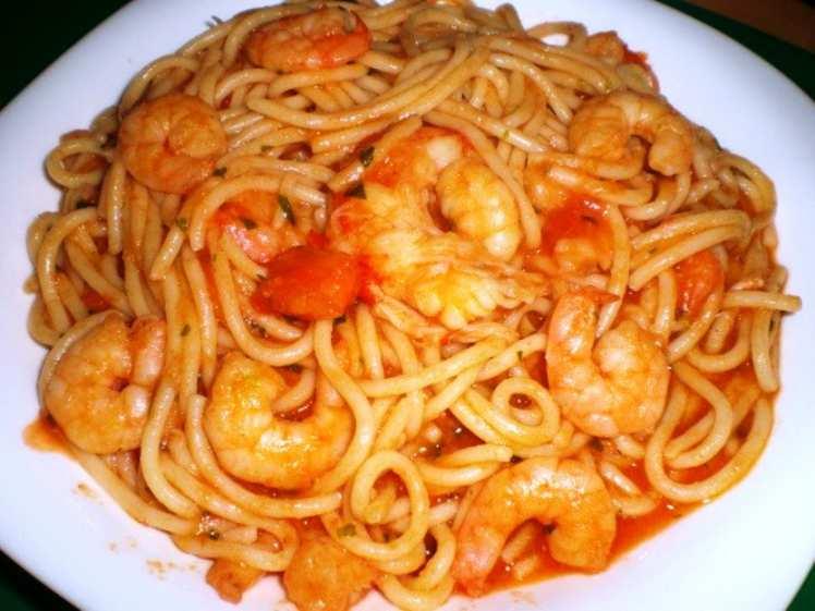 Espaguetis con gambas al ajillo mis recetas caseras - Espaguetis con gambas y champinones ...