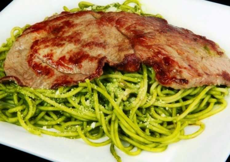 Espaguetis Verdes con Presa Ibérica