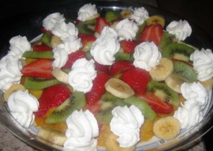 Flan Casero con Frutas