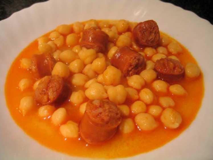 Garbanzos con chorizo mis recetas caseras for Cocinar garbanzos con chorizo