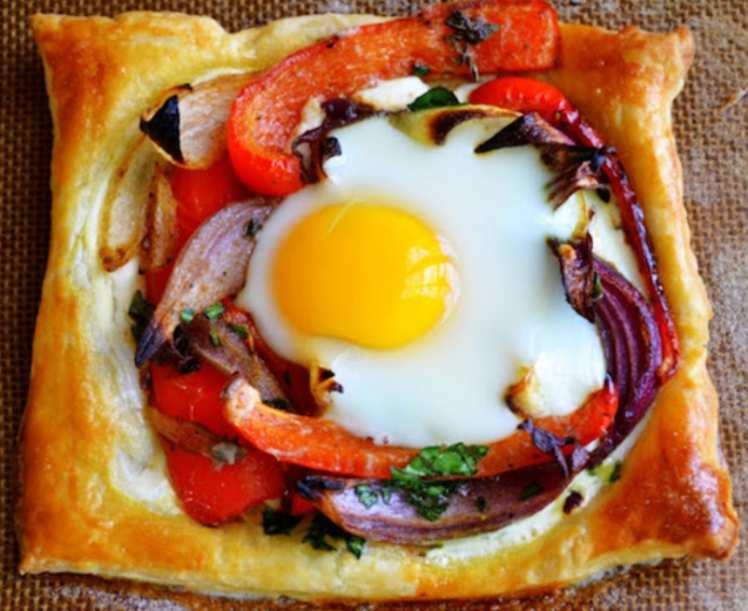 Hojaldre con Verduras y Huevo