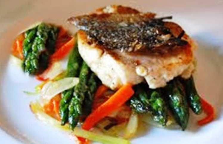 Mero al horno con verduras mis recetas caseras - Salsa para verduras al horno ...