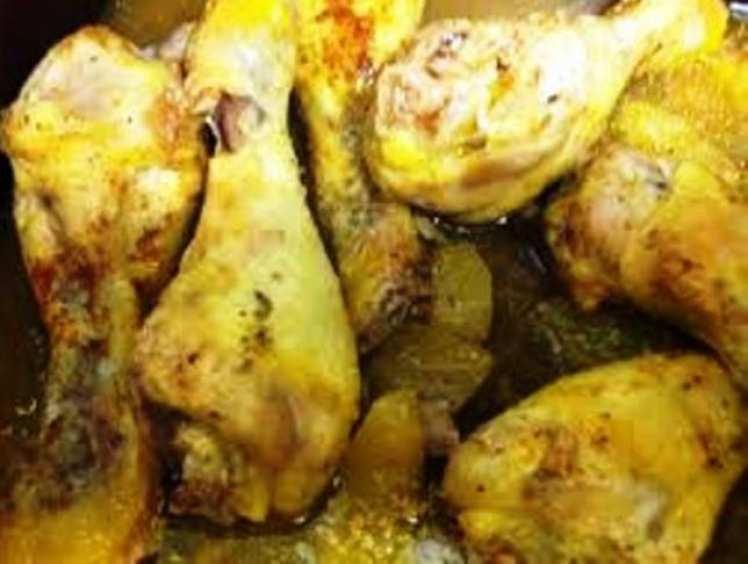 Muslitos de Pollo con Manzana al Horno