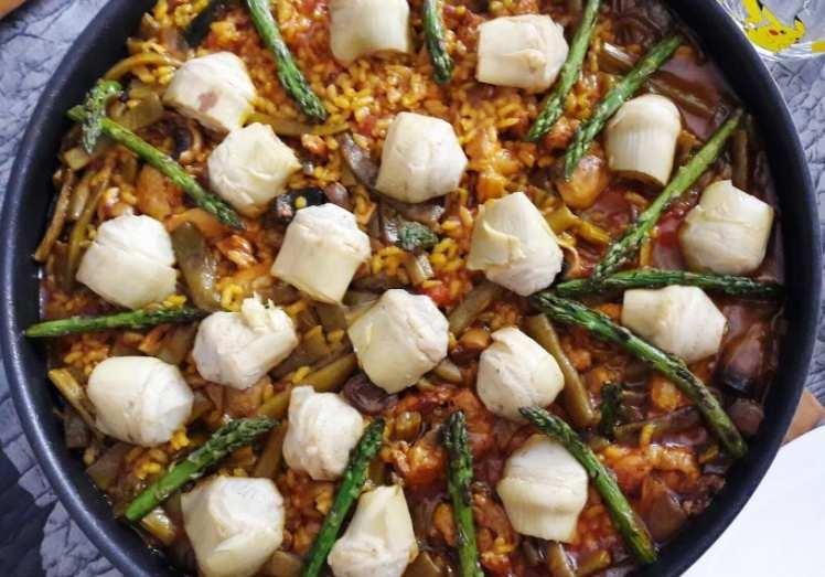 Paella de Pollo y Verduras