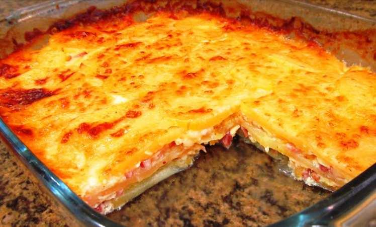 Pastel de Patatas Casero
