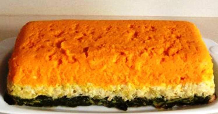 Pastel Tricolor de Verduras