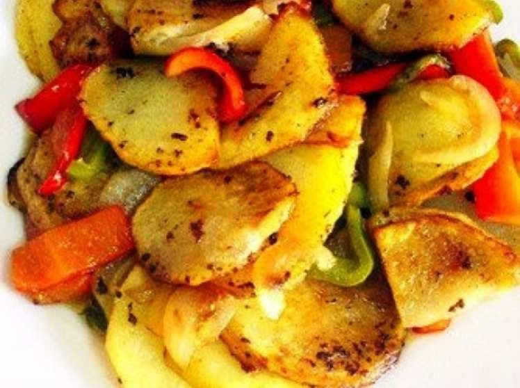 Patatas a lo Pobre con Vinagreta de Jerez