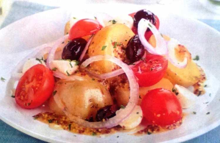 Patatas con Vinagreta de Mostaza