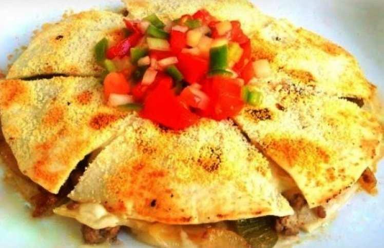 Quesadillas Mejicanas de Ternera o Pollo