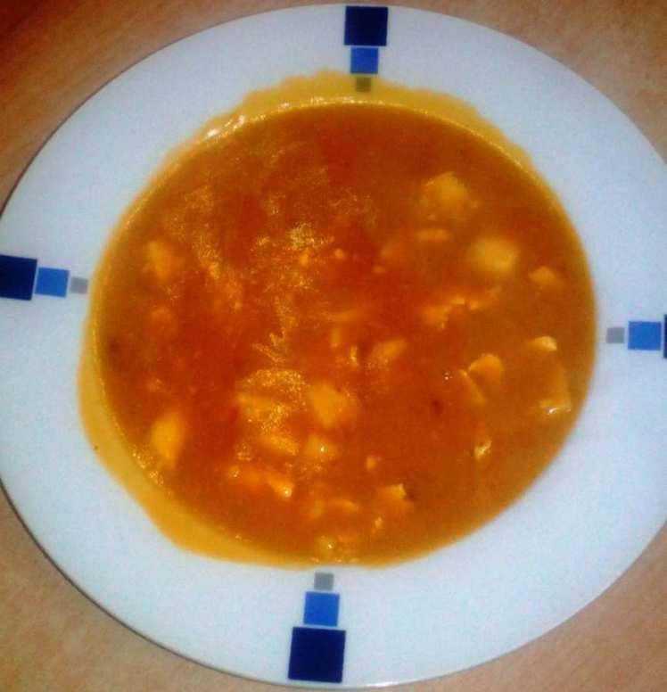 Sopa de Arroz con Calamares