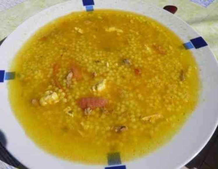 Sopa Maravilla Con Jamón Y Huevo