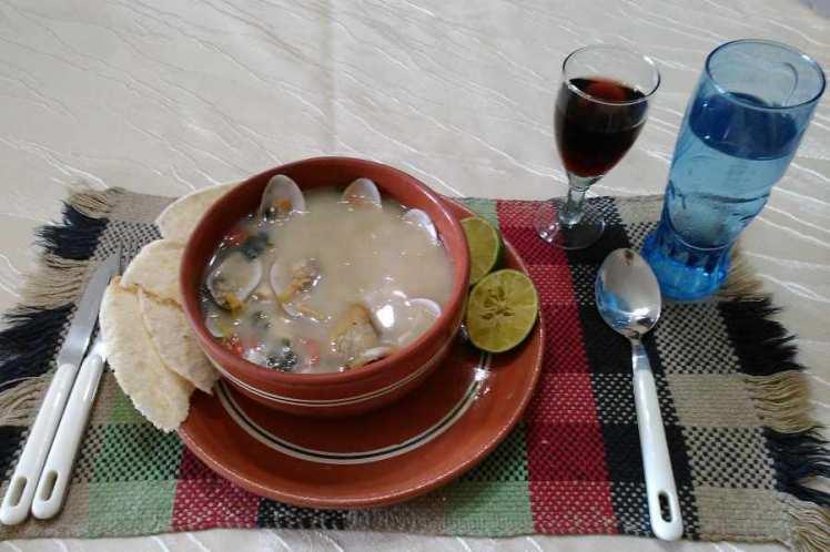 Sopa De Pescado, Almeja Y Vieira