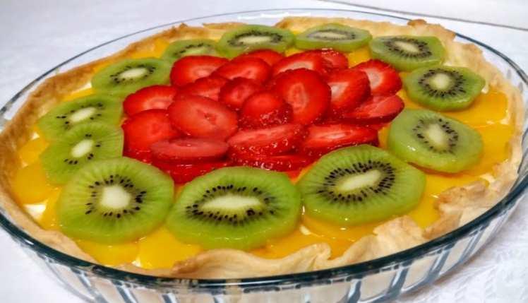 Tarta de Frutas con Crema de Limón