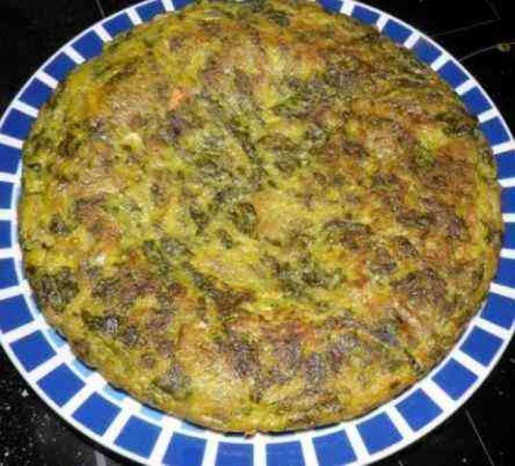 Tortilla De Acelgas Y Pan Rallado