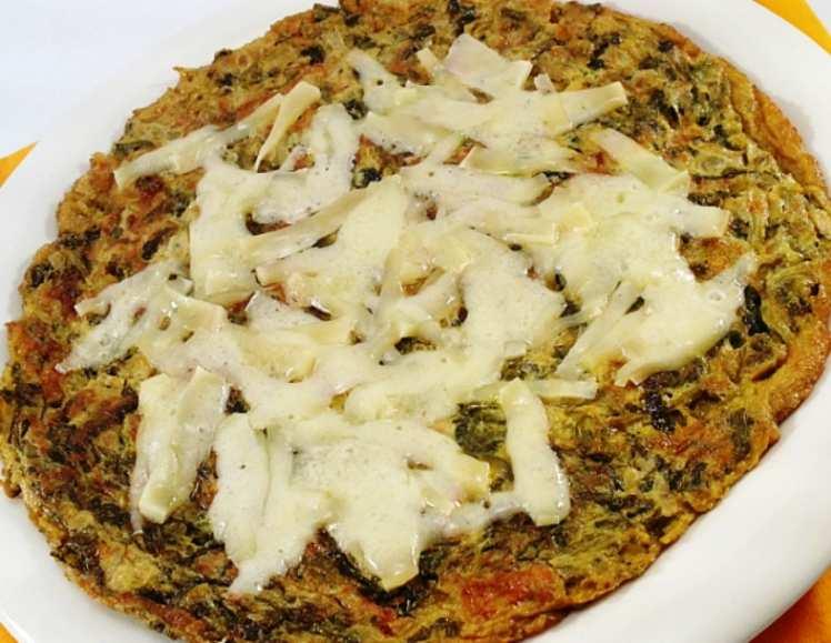 Tortilla de Lechuga con Queso Gratinado