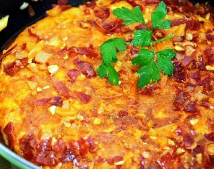 Tortilla de Patatas en Salsa de Sidra