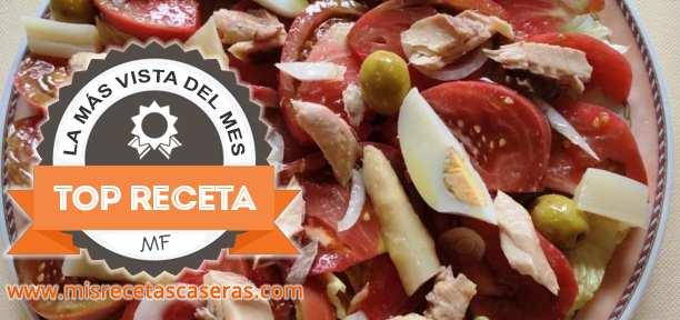 RECETA MÁS VISTA: Ensalada con Tomates del Terreno