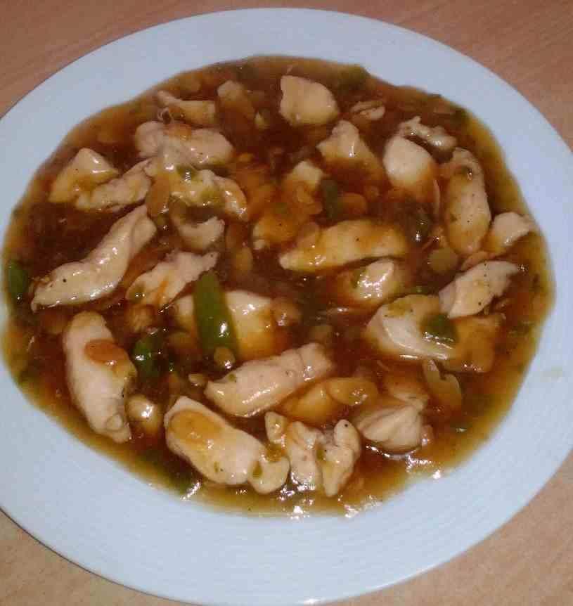 Pollo con almendras y salsa de soja mis recetas caseras - Pollo con almendras facil ...