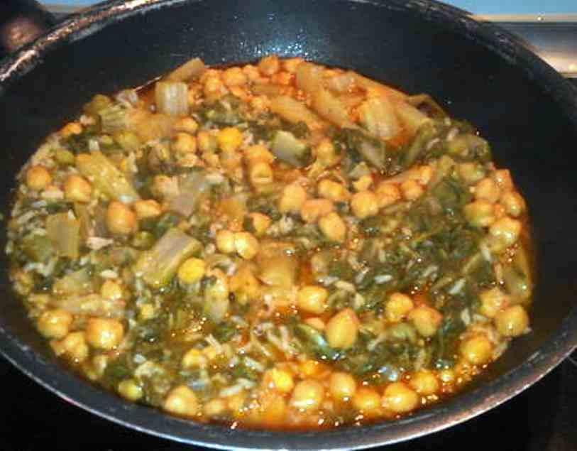 Salteado de garbanzos con arroz y acelgas mis recetas - Salteado de arroz ...