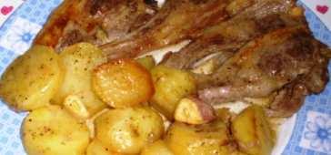 Alcachofas al horno gratinadas mis recetas caseras - Chuletas de cordero al horno con patatas ...