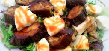 Ensalada de Berenjena y Mozzarella