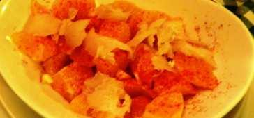 Ensalada de Naranja con Bacalao al Pimentón